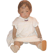 Antique Doll Kathe Kruse Early Cloth Doll WONDERFUL Rare Model Child Series 1 Oil Cloth