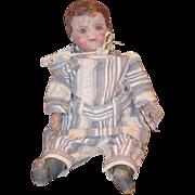 Antique Doll Alabama Baby Oil Cloth Folk Art Wonderful