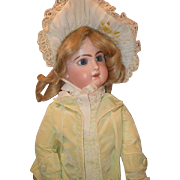 Antique Doll French Bisque Closed Mouth BeBe Emile Jumeau EJ  Dressed Large