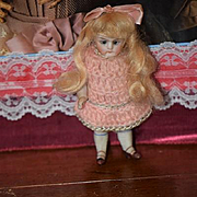 Antique Doll Miniature All Bisque Swivel Head Dollhouse French Market