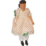 Vintage Doll Hitty Wood Carved Artist Judy Brown Signed