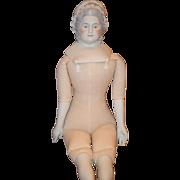Vintage Doll Emma Clear Molded Bonnet Gorgeous Portrait Doll Martha Washington Bisque