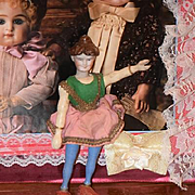 Antique Doll Schoenhut Wood & Bisque Head Character Face Lady Doll Circus Original Clothes