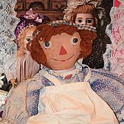Wonderful Doll Raggedy Ann Doll Cloth Unusual Volland Gruelle