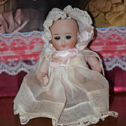 Antique Doll Bisque Miniature Baby All Bisque Dollhouse 833