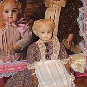 Antique Doll Papier Mache Original Label Paper Mache Unbreakable Heads