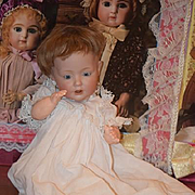 """Antique Doll JDK Hilda Small Cabinet Size Kestner 12"""" Gorgeous"""