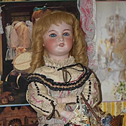 Antique Doll French Bisque Automaton THE FLOWER SELLER Musical and Moves Gorgeous