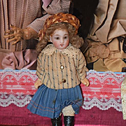 Antique Doll Miniature Bisque Dollhouse School Girl Darling Clothing Factory Made