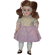 Antique Doll All Bisque Big Girl Doll Cabinet size