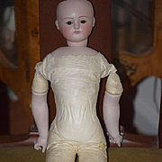 Antique Doll For French Market Gorgeous Bisque Head Closed Mouth