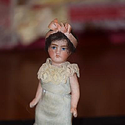 Antique Doll All Bisque Miniature Dollhouse Flapper Wonderful