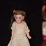 Antique Doll French All Bisque School Girl Tall Stockings Boots Miniature Dollhouse Swivel Head