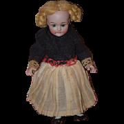Antique Doll All Bisque Miniature Swivel Head Original Clothes Dollhouse