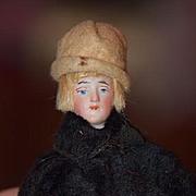 Antique Doll Miniature Bisque Flapper FAB Clothes Dollhouse Unusual