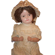 Antique Doll Schoenhut Wood Carved Jointed WONDERFUL Dressed Adorable