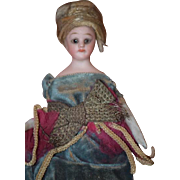 Antique Doll Miniature Bisque TINY French Market Simon & Halbig Original Clothes Fancy Dollhouse Lady