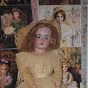 """Antique Doll HUGE 31"""" Bisque Handwerck 99 Beautiful Clothing Sweet Young Girl"""