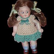 Antique Doll Bisque All Bisque Miniature Dollhouse Googly Wonderful