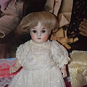 Antique Doll Miniature All Bisque Jointed Character Dressed