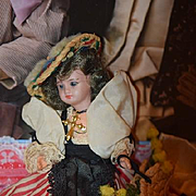 Antique Doll Bisque Miniature Dollhouse Wonderful Clothing