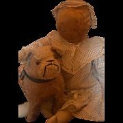 Antique Doll Cloth Doll Rag Doll Folk Art Primitive Great Clothing