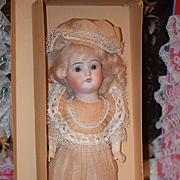 Antique Doll Bisque In Original Box Original Clothing Wonderful
