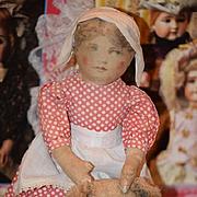 Antique Doll Cloth Wonderful Primitive Folk Art Rag Doll Fab Clothes