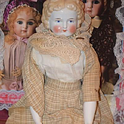 Antique Doll China Head Different Hair Style Wonderful Face Old Clothes and Undergarments