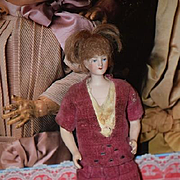Antique Doll Dollhouse Lady Bisque Fancy