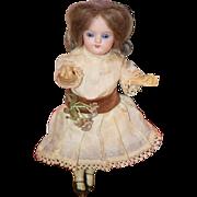 Antique Doll Bisque Miniature Cabinet Size Wonderful Face