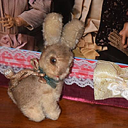 Old Doll Toy Mohair Rabbit Jointed Neck Display Bunny Steiff