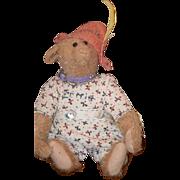 Vintage Suzanne Adler Teddy Bear Mohair Jointed Signed ERNIE Artist Bear