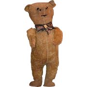 Antique Teddy Bear Doll Friend Standing Large Bear with Jointed Arms Mohair SWEET! English
