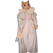 Wonderful Original Rose Petal Dolls & Bears by Wendy Brent LADY BOOTS Wax Cat Doll