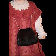 Old Doll Hand Muff Fur For French Fashion Doll Wonderful Doll Size