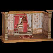 Antique Dollhouse Miniature Room English Arts & Crafts Doll Room Diorama