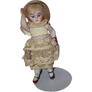 Antique Doll Miniature All Bisque Jointed Doll Sweet!