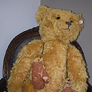 Vintage BIG Teddy Bear Steiff LARGE Mohair Jointed