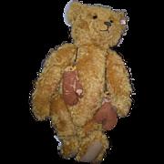 Vintage BIG Teddy Bear Steiff W/ Old Boxing Gloves HUGE BEAR