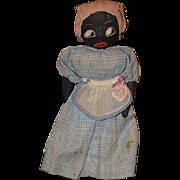 Old Doll Cloth Doll Rag Doll Black Wonderful Old Folk Art Primitive