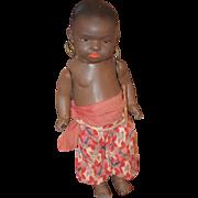 Antique Doll Black Bisque Heubach Koppelsdorf  399 Island Doll