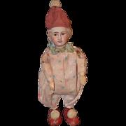 Antique Doll French Bisque Jester Clown Unusual WONDERFUL