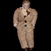 Antique Doll Miniature Bisque Doll Dollhouse Man Doll Dollhouse