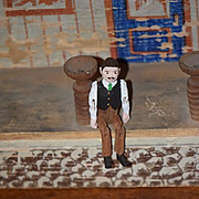 Old Doll Wood Miniature Jointed Man Doll Dollhouse Jointed Unusual Carved