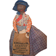 Old Doll Black Cloth Doll Rag Doll Unusual