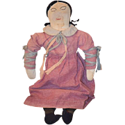 Old Doll Cloth Rag Doll Folk Art Unusual