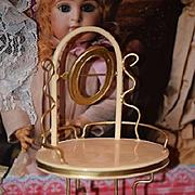 Old Doll Vanity Tin Miniature Metal  Dollhouse
