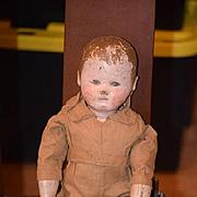 Antique Doll Martha Chase Oil Cloth Doll Original Paint