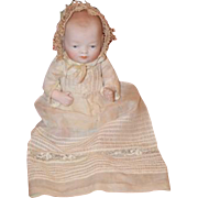 Antique Doll All Bisque Miniature Bye-Lo Grace S. Putnam Wonderful Clothes Marked Baby